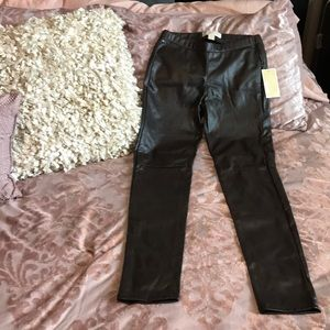 Michael Kors Faux Leather Brown Skinny Pants